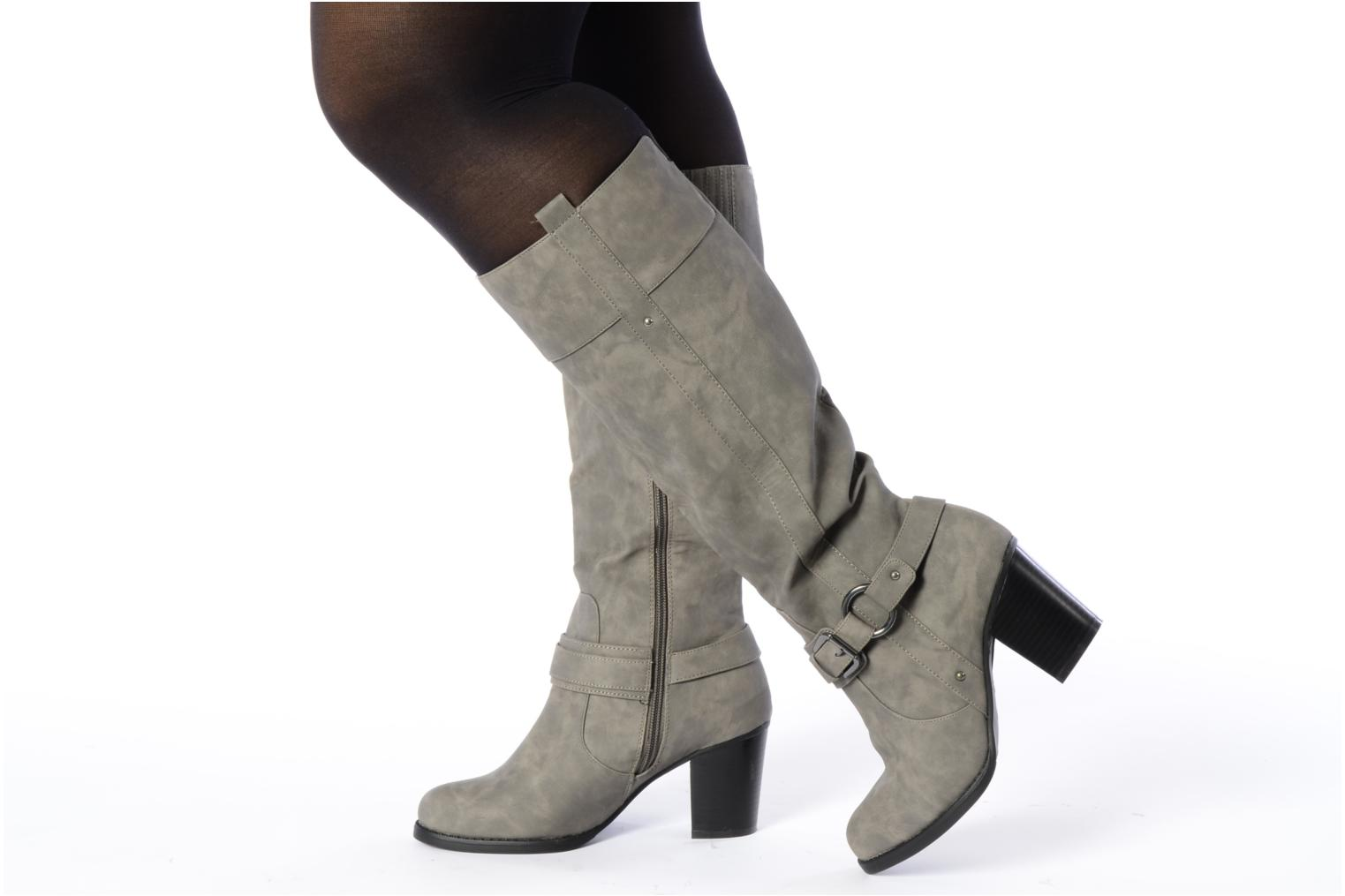 Boots & wellies I Love Shoes Clarita Grey view from underneath / model view