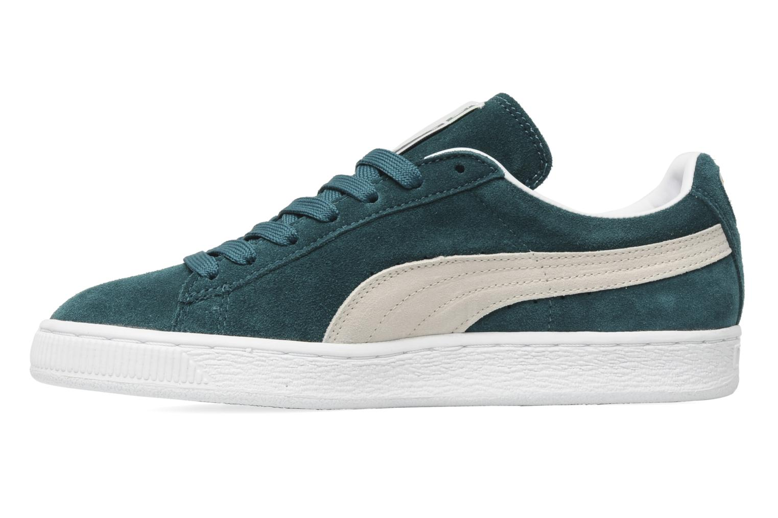 Suede Classic + Deep Teal Green-White