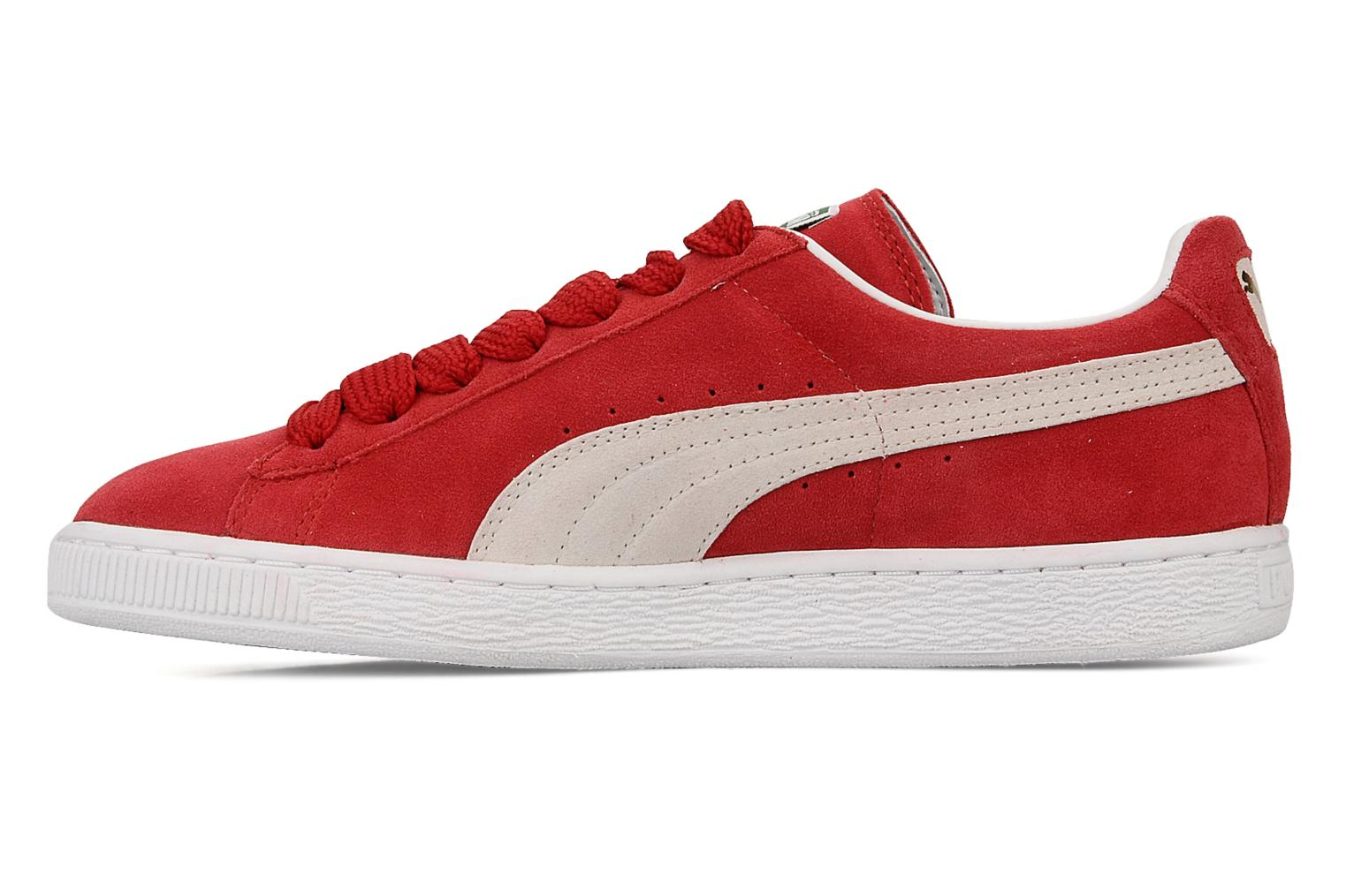Baskets Puma Suede Classic + Rouge vue face