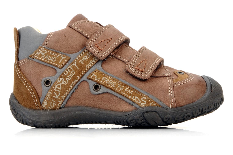 Zapatos con velcro Primigi Bartolom Marrón vistra trasera