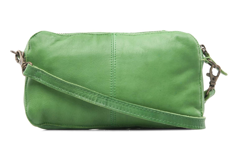Pochette Pieces Pernille leather crossover Verde modello indossato