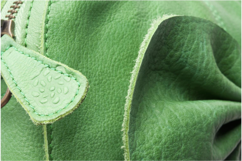 Pochette Pieces Pernille leather crossover Verde immagine sinistra