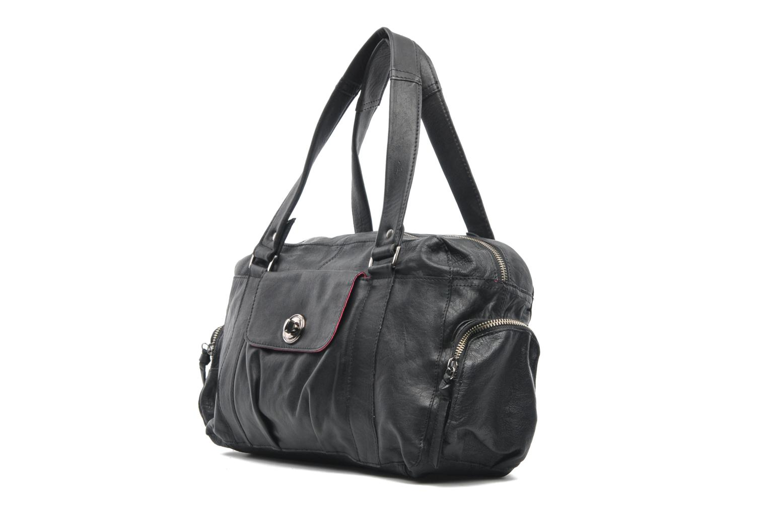 Handbags Pieces Totally Royal leather Small bag Black model view