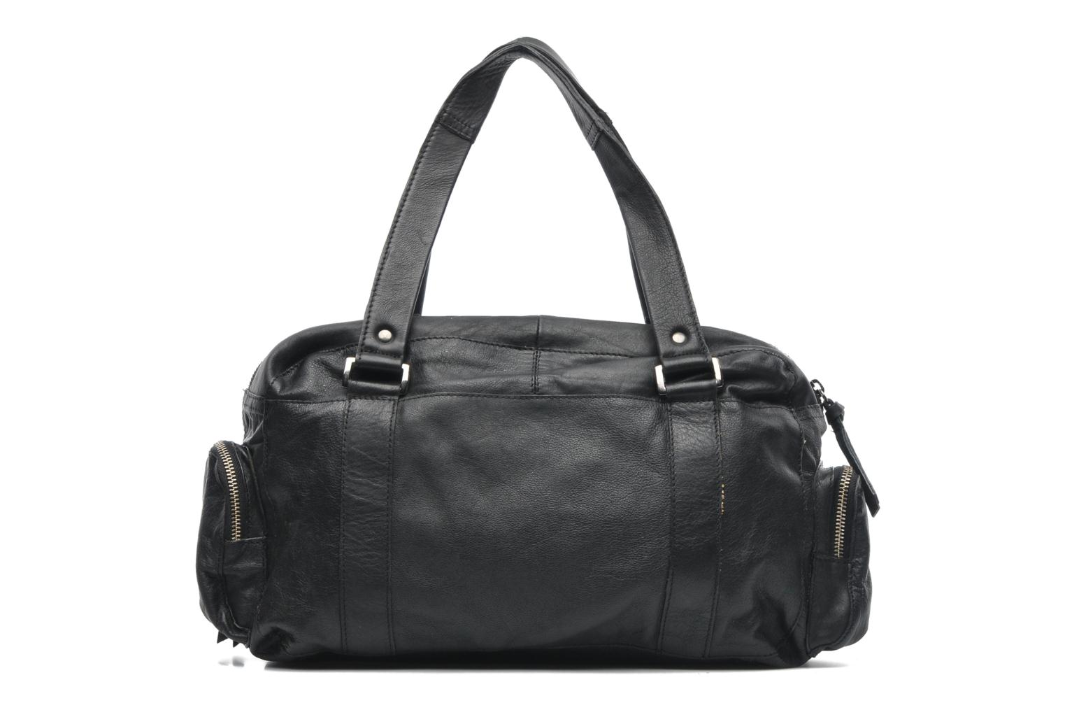 Handbags Pieces Totally Royal leather Small bag Black front view