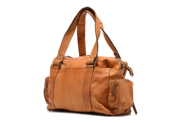 Sacs à main Pieces Totally Royal leather Small bag Marron vue droite