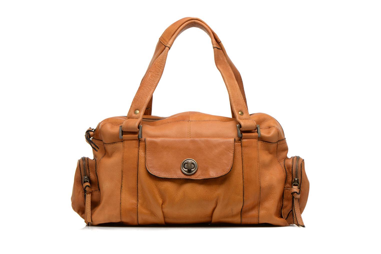 Bolsos de mano Pieces Totally Royal leather Small bag Marrón vista de detalle / par