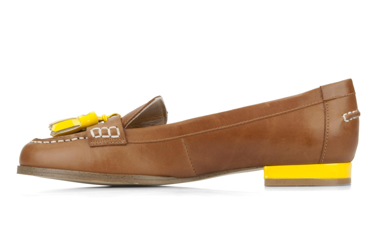 Loafers Mellow Yellow Kolage Brown front view
