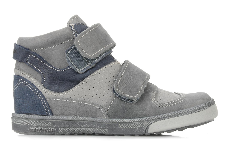 Zapatos con velcro Babybotte Ari Gris vistra trasera