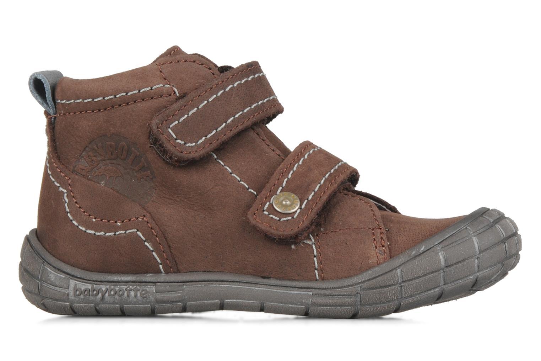 Zapatos con velcro Babybotte Axyon Marrón vistra trasera