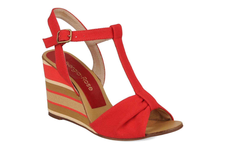 Sandales et nu-pieds Georgia Rose Dayana Rouge vue détail/paire