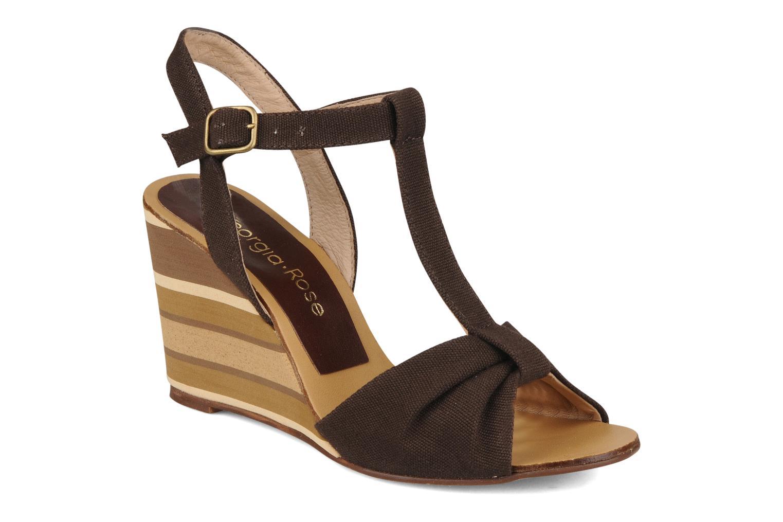 Sandales et nu-pieds Georgia Rose Dayana Marron vue détail/paire