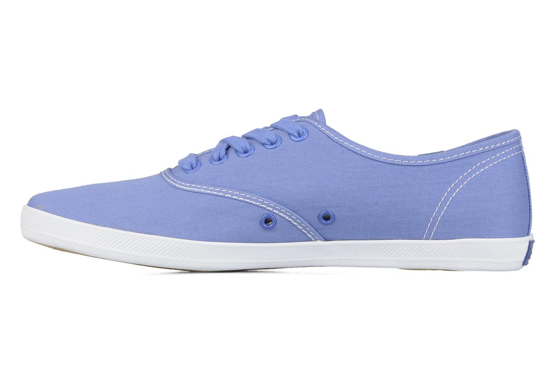 Sneaker Keds Champion washed canvas blau ansicht von vorne