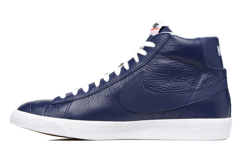 Baskets Nike Blazer mid prm Bleu vue face