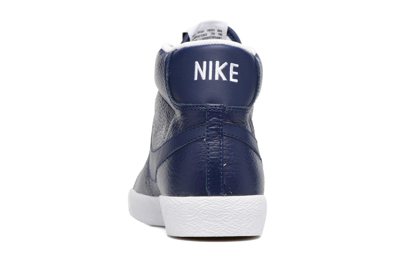 Baskets Nike Blazer mid prm Bleu vue droite