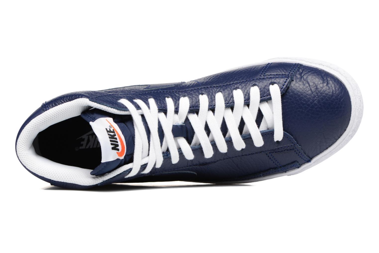 Sneaker Nike Blazer mid prm blau ansicht von links