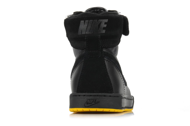 Sneaker Nike Flytop velcro schwarz ansicht von rechts