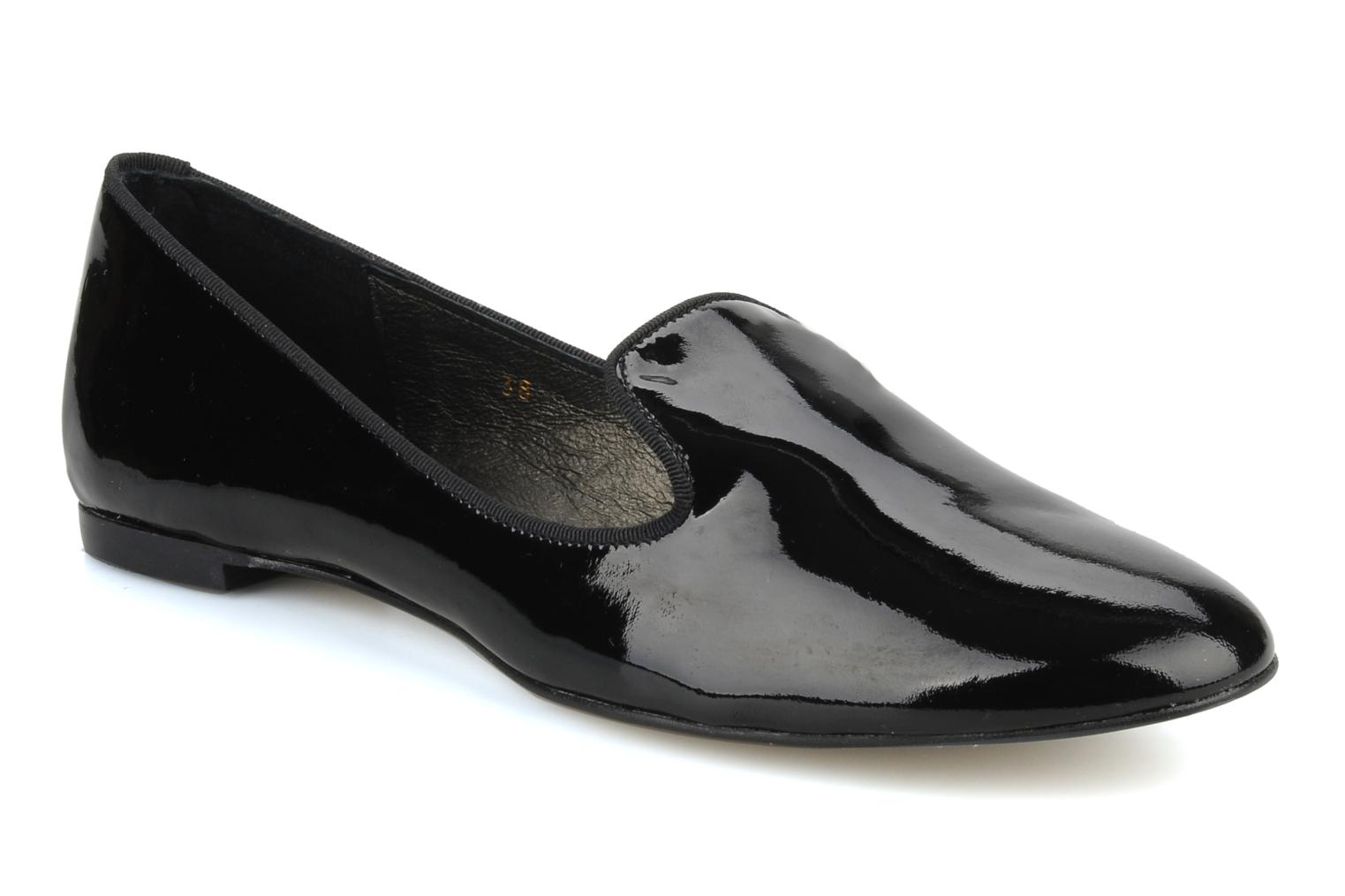 Loafers Georgia Rose Theadia Black detailed view/ Pair view