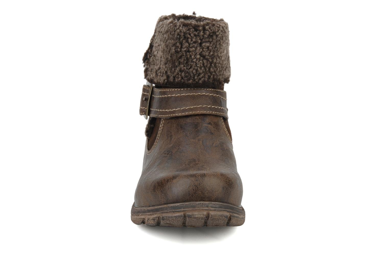 Ankle boots Mustang shoes Rato Brown model view