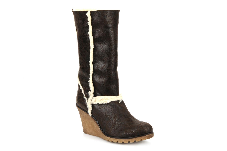Boots en enkellaarsjes Eden Monta Bruin detail