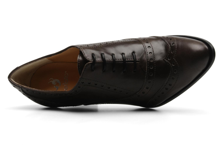 Chaussures à lacets Perlato Vitamine Marron vue gauche
