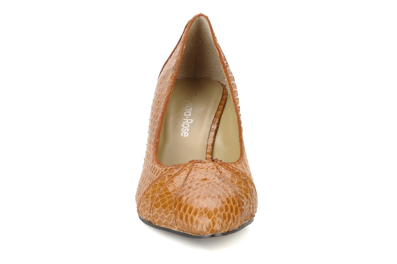 Escarpins Georgia Rose Hoba Marron vue portées chaussures