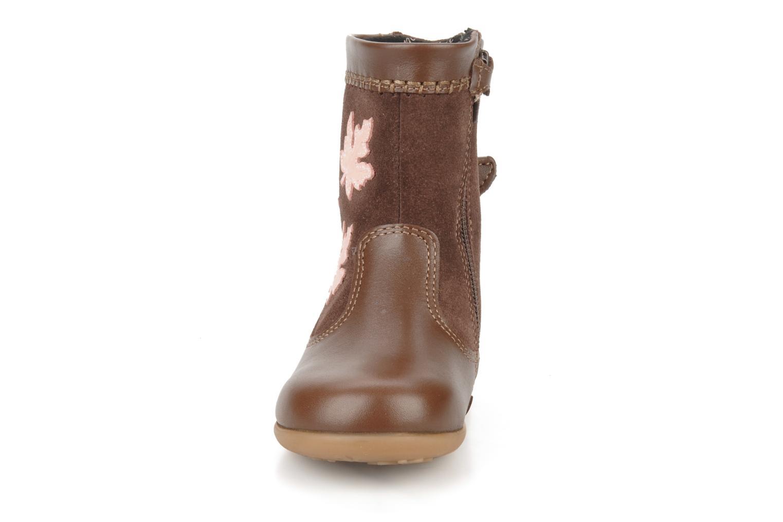 Aqua spring Brown leather