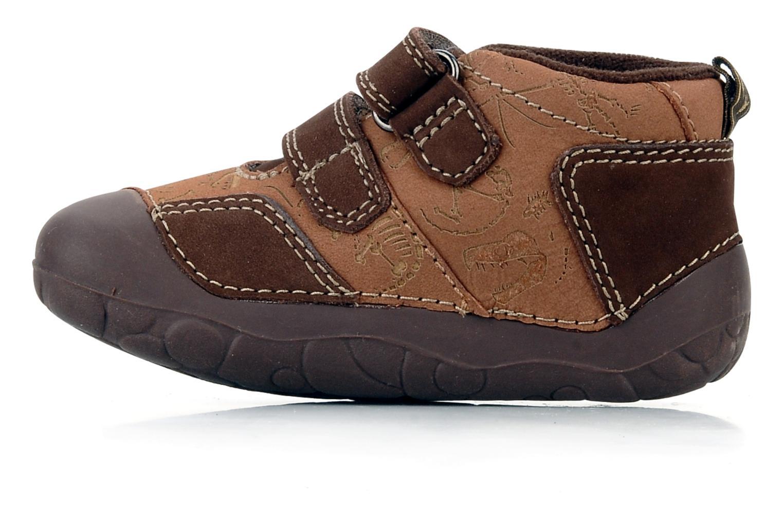 Chaussures à scratch Start Rite Fossil Marron vue face