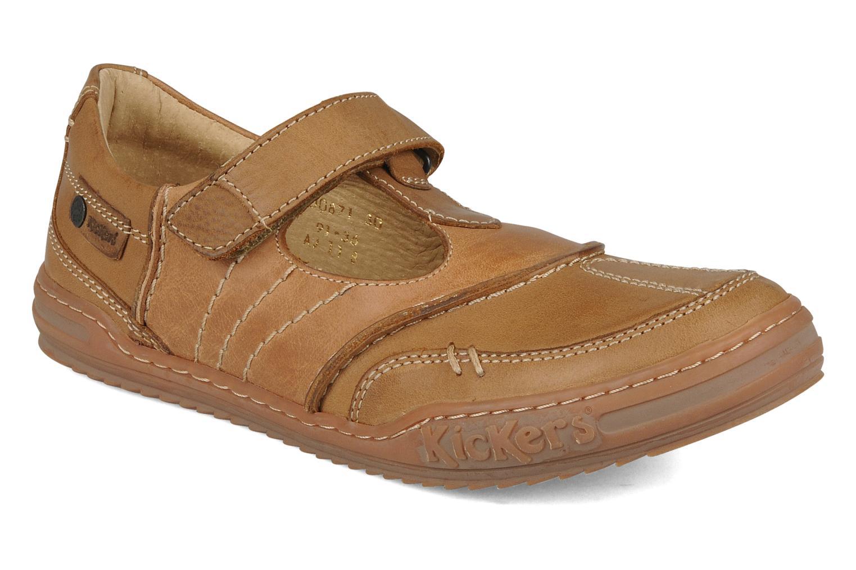 Chaussures à lacets Kickers Jimpy Marron vue détail/paire