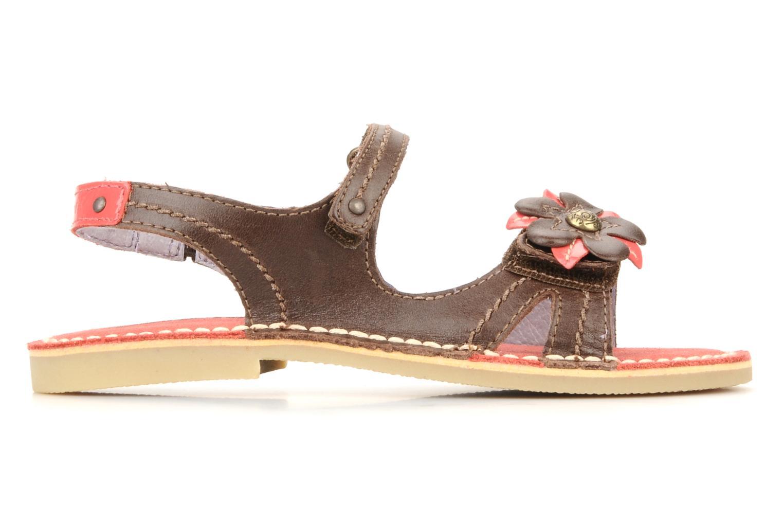 Sandales et nu-pieds Kickers Kostaki Marron vue derrière