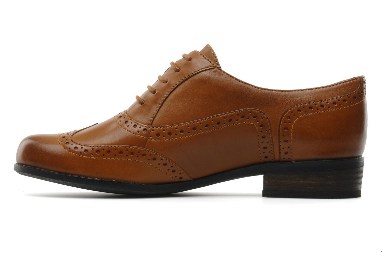 Lace-up shoes Clarks Hamble oak Brown front view