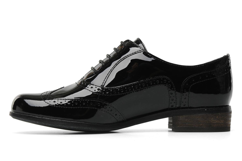 Lace-up shoes Clarks Hamble oak Black front view