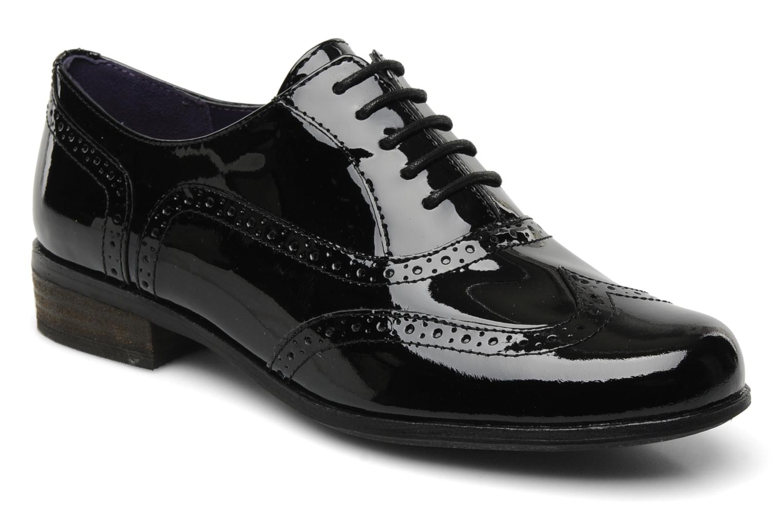 Lace-up shoes Clarks Hamble oak Black detailed view/ Pair view