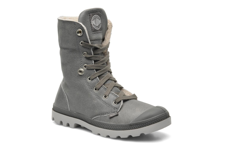 Bottines et boots Palladium Baggy ls w Gris vue 3/4