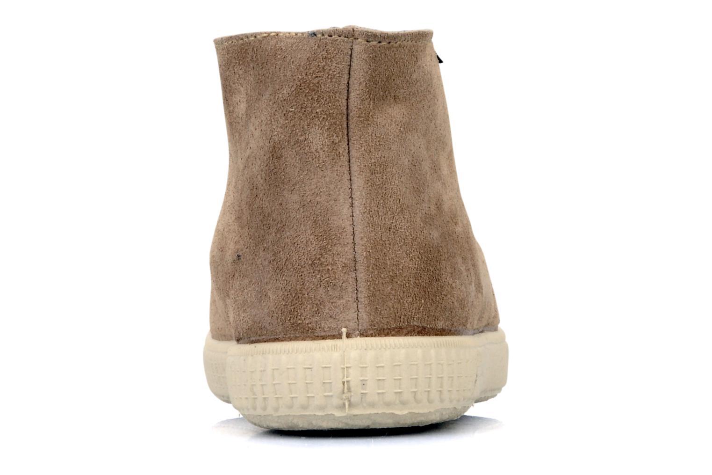 Chaussures à lacets Victoria Safari serraje M Beige vue droite