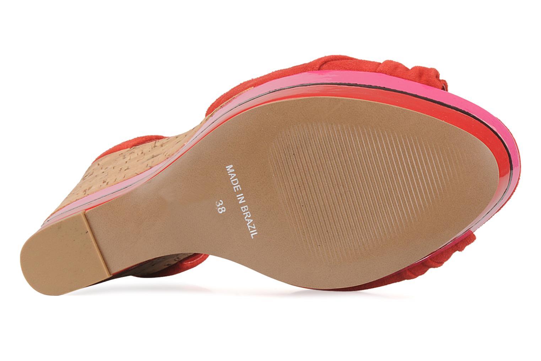 Sandales et nu-pieds Carvela Kennis Rouge vue haut