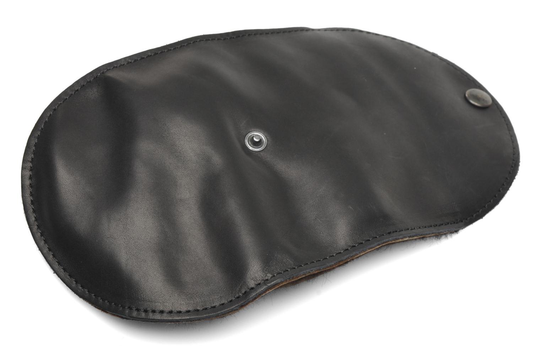 Schuhpflegeprodukte Famaco Polierhandschuh schwarz ansicht von links