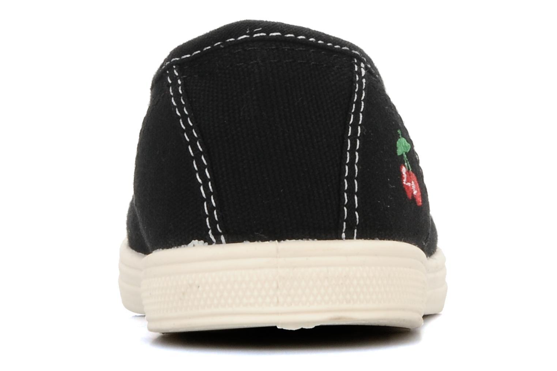 Sneakers Le temps des cerises Basic 01 Zwart rechts