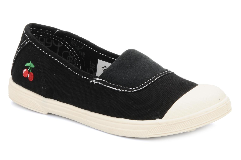 Sneakers Le temps des cerises Basic 01 Zwart detail