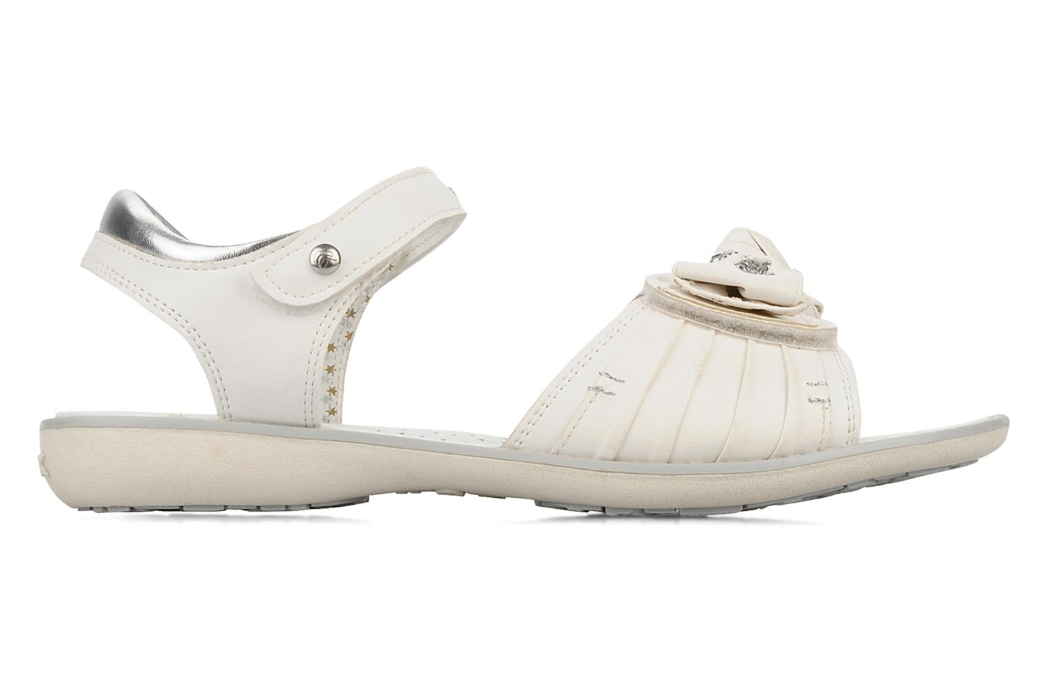 Sandals Geox J s.lime w White back view