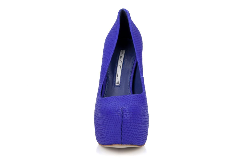 Escarpins Studio TMLS Diamante Bleu vue portées chaussures