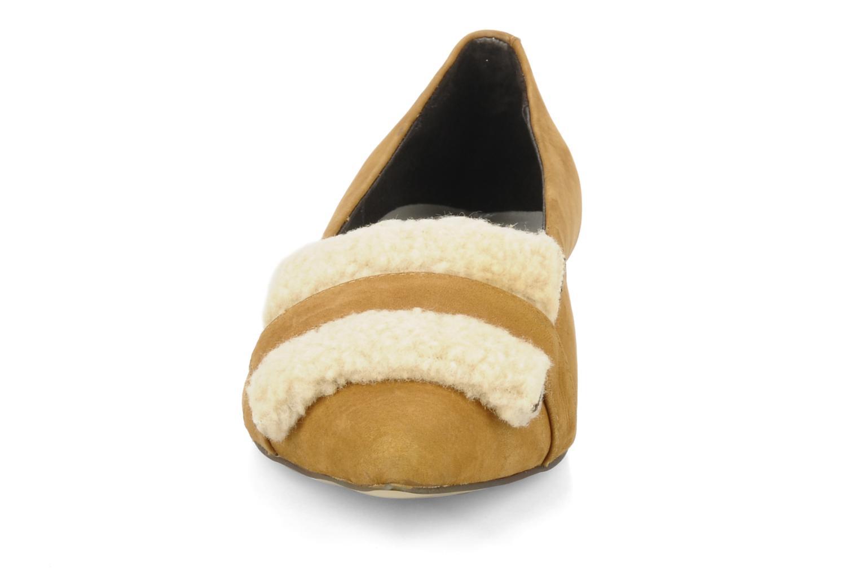 Ballerines JB MARTIN Zania Beige vue portées chaussures