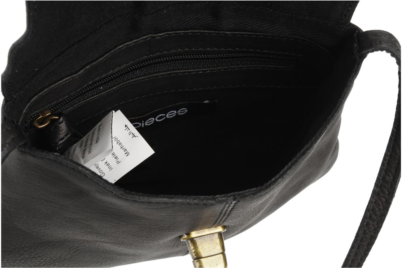 Handtassen Pieces Totally Royal leather Party bag Zwart achterkant