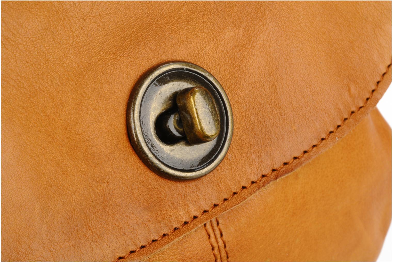 Handtaschen Pieces Totally Royal leather Party bag braun ansicht von links