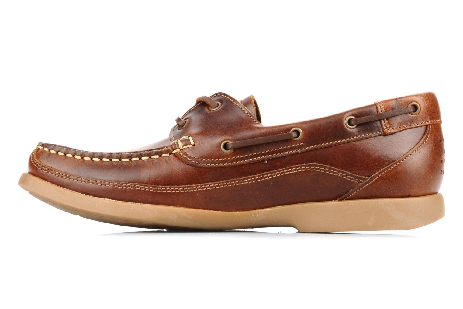 Lace-up shoes TBS Neuron Brown front view