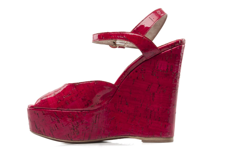 Sandales et nu-pieds D&G Piral Rouge vue face