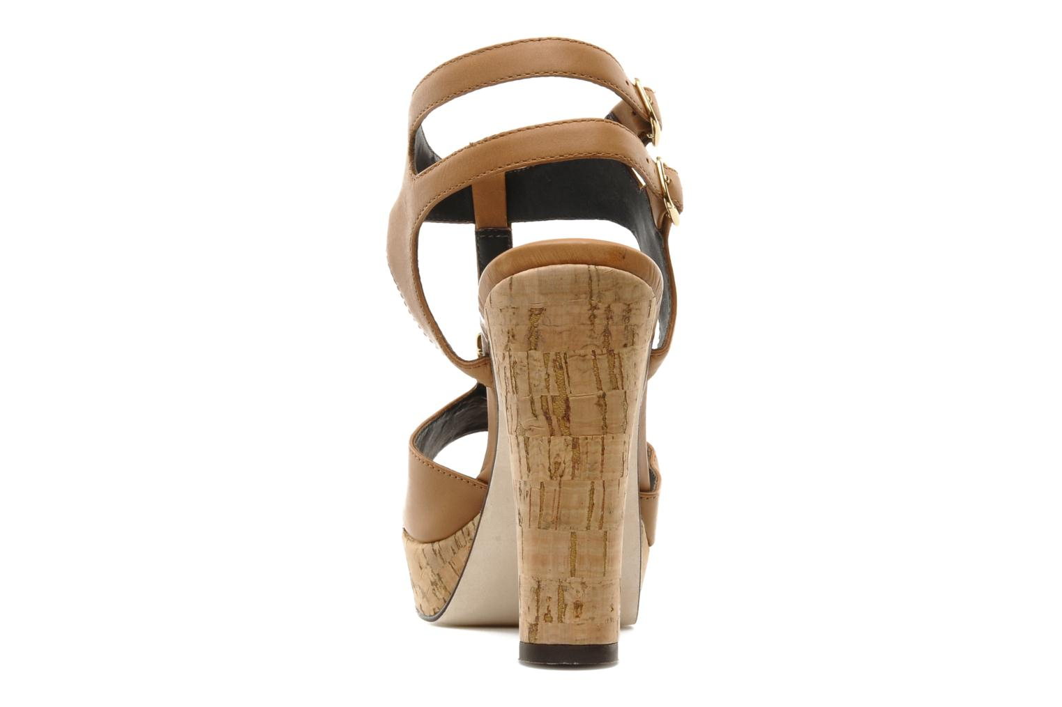 Sandalias Tila March Plateform sandal t-bar Marrón vista lateral derecha