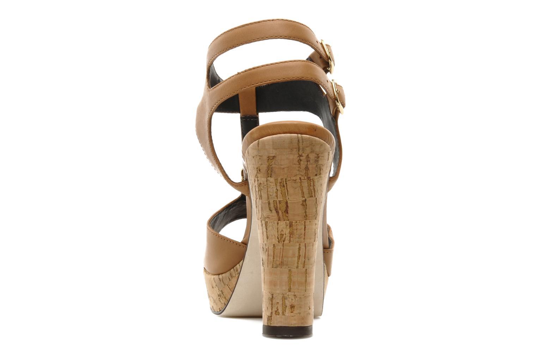 Sandalias Tila March Plateform sandal t-bar Marrón vista lateral derecha