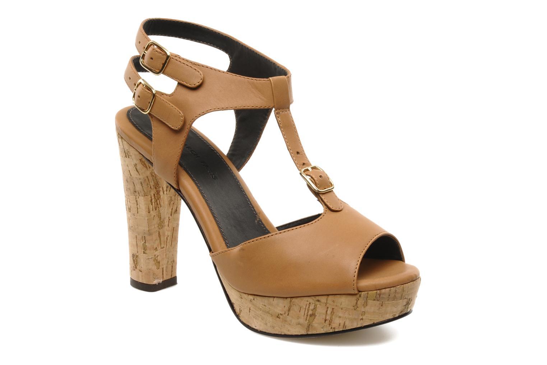 Sandalias Tila March Plateform sandal t-bar Marrón vista de detalle / par