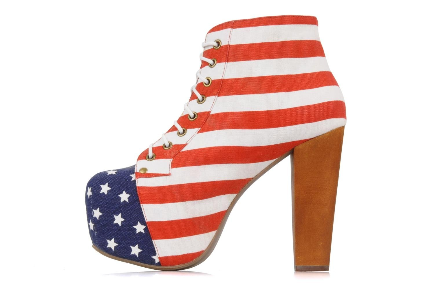 Ankle boots Jeffrey Campbell Lita flag Multicolor front view