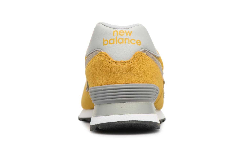 Baskets New Balance Ml574 Jaune vue droite